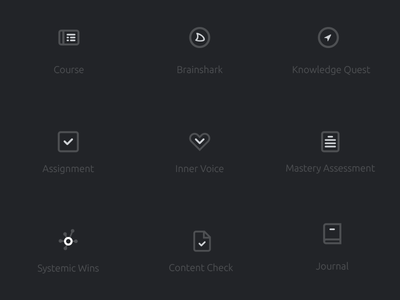Icon Set for Activity Types