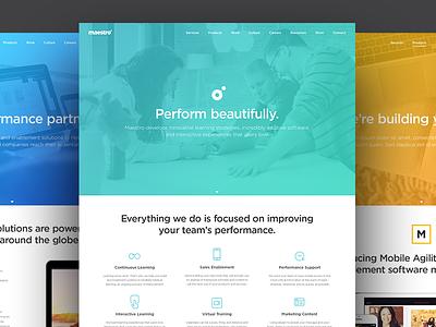 Maestro Website V5 color gradient messaging marketing website