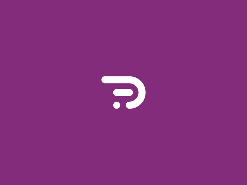 PrimaFacie Logo Mark branding purple icon mark logo