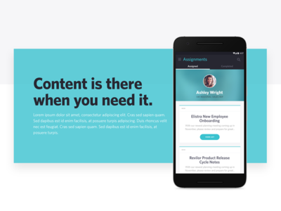 Content Feature - Marketing Website