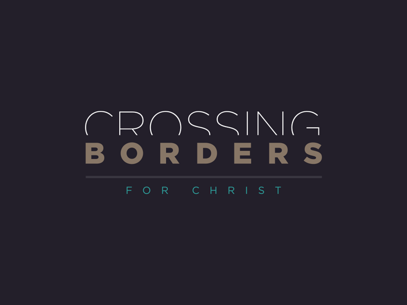 Crossing Borders church ministry logo borders cross