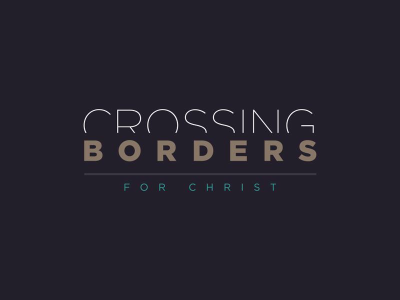 Crossing Borders church ministry logo borders cross