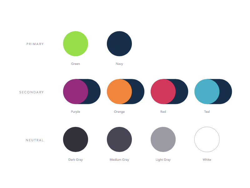 Color Palette green navy branding palette color