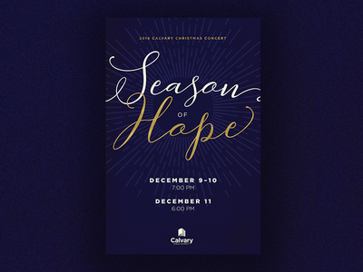 Season of Hope - Christmas Concert Poster