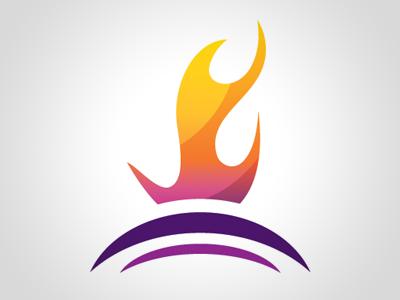 Church Logo logo flame fire burning