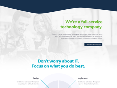 Technology Website Direction