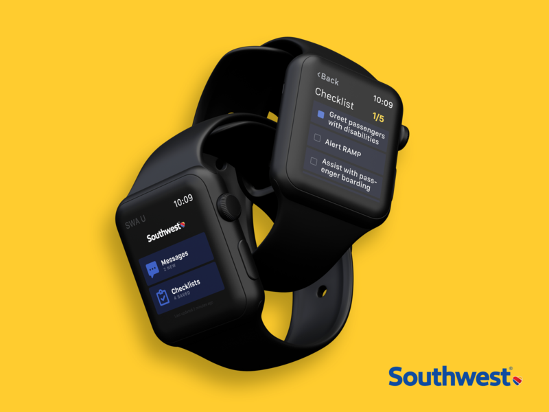 Southwest Apple Watch app software design agency southwest ux uiux ui apple watch mockup watchos apple watch