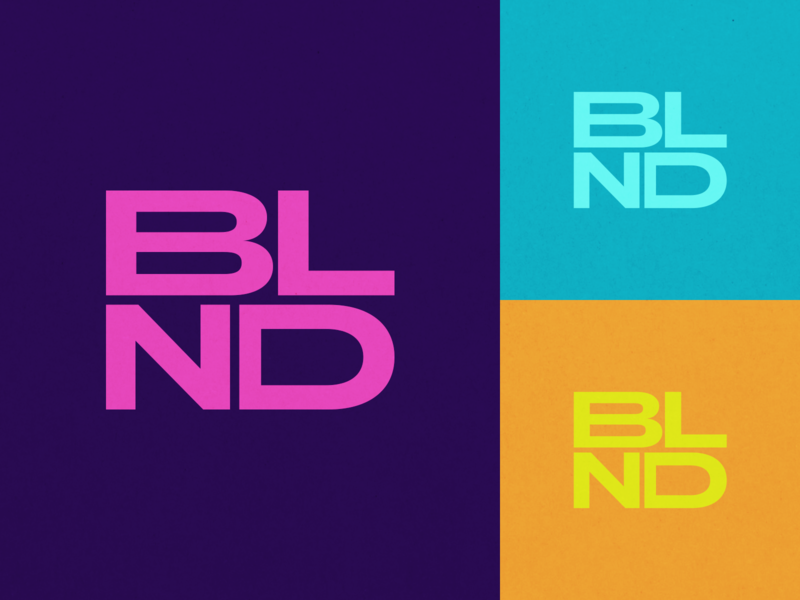 BLND Logo Exploration vector blend blended mental health health wellness yellow orange blue teal pink purple exploration brand strategy branding visual identity logo