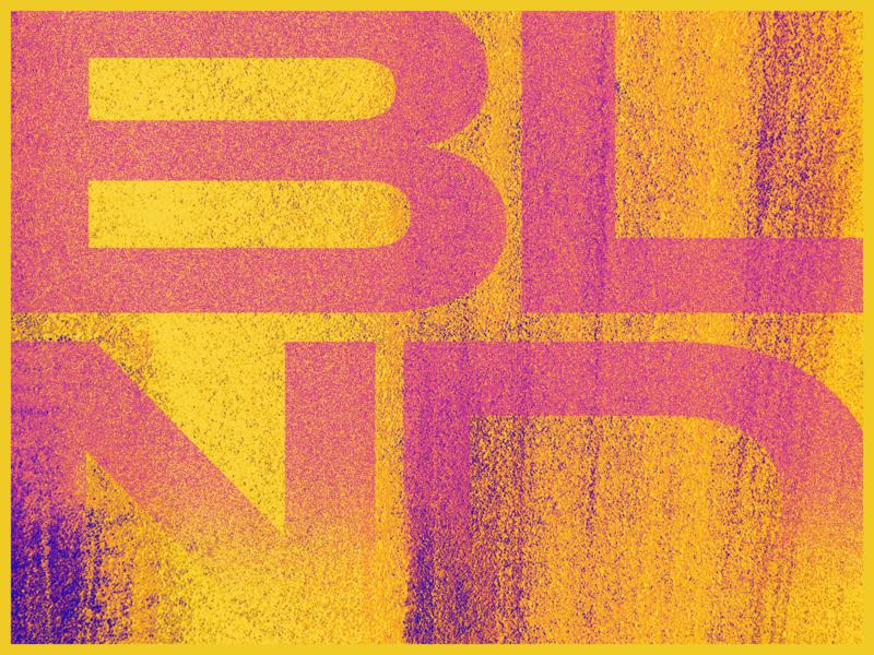 Blnd Art modern wellness brand identity brand strategy exploration art orange pink logo identity blnd blend