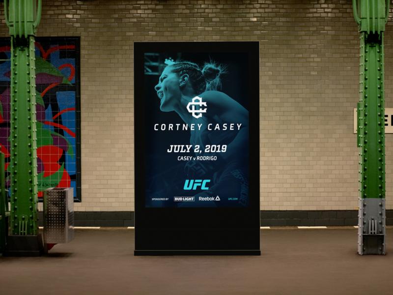 Cortney Casey Subway Ad identity logo c advertising subway mma fighter ufc brand athlete brand