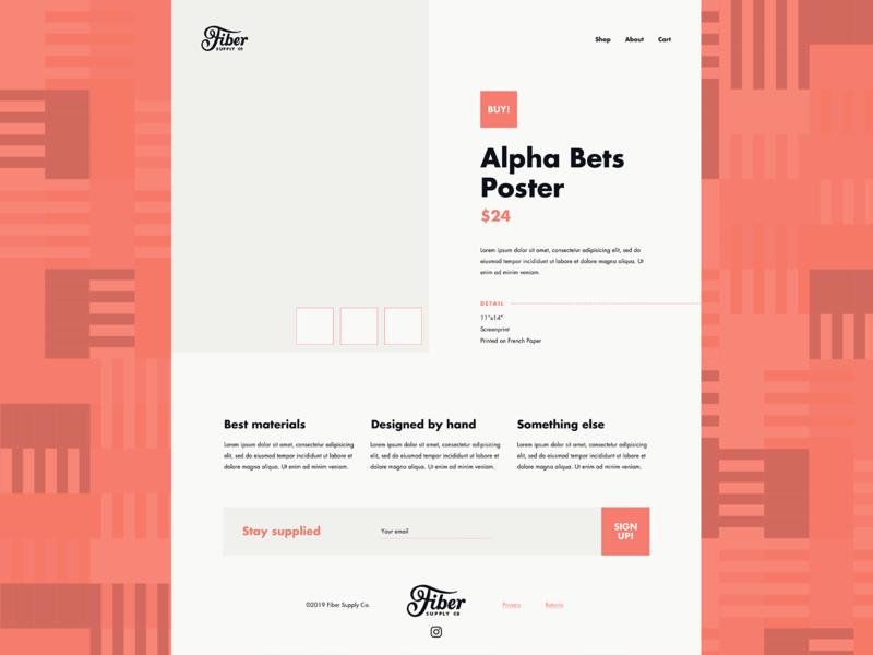 Fiber Website (Lofi Design)