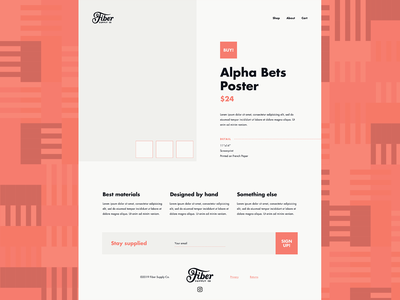 Fiber Website (Lofi Design) layout futura bold futura wireframe goods merch branding agency branding design branding black pink site lofi store ecommerce web design website fiber