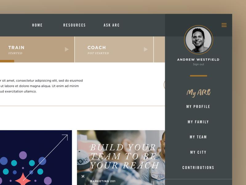 Website User Panel website concept secondary menu menu sidebar links avatar graphic design gray gold panel profile user ux ui web design website design website