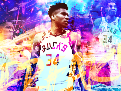 FREAK SHOW - Giannis Antetokounmpo nba playoffs forte athlete branding sports marketing sports branding composite branding basketball player basketball giannis antetokounmpo giannis 34 bucks nba poster nba