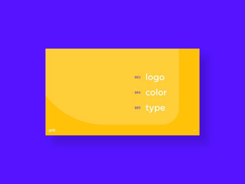 Style Guide - Sneak Peek table of contents blue orange type color logo branding ai app gab page brand brand guide guide style styleguide