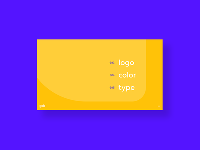 Style Guide - Sneak Peek table of contents blue orange type color logo branding ai app gab page brand brand guide guide style styleguide
