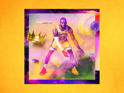 LeBron James - The King of the Revenge illustration los angeles lakers los angeles lakers king athlete branding sports branding instagram collage art collage sports design basketball the king lebron james lebron nba
