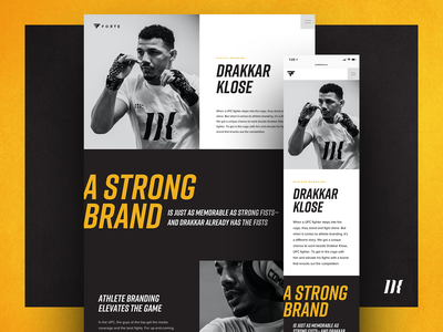 Drakkar Klose Case Study gold black sports marketing sports branding responsive website design website athlete branding branding case study mma ufc drakkar