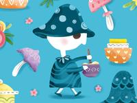 Mushroom Kitchen Pattern