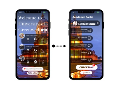 Re-Design UI of University of Greenwich Application