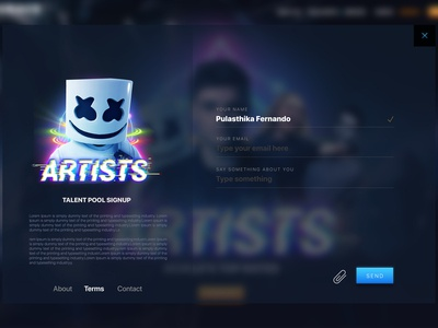 Signup Concept