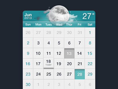 Calendar jan android button ui iphone china ios icon calender weather app