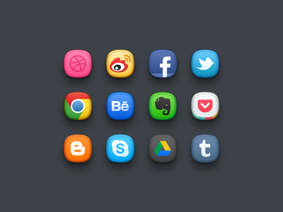 Sweets icon weibo facebook chrome behance evernote tumblr pocket candy jan