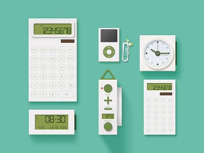 Office Supplies clock radio calculator jan music fm button ui iphone ios icon app