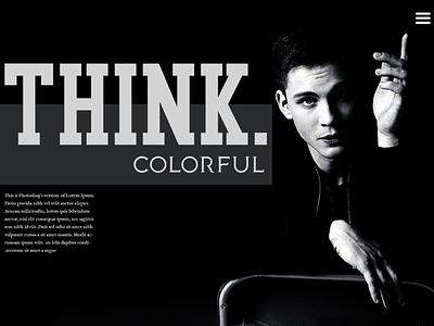 Hypocrisy type ui black and white mockup layout website