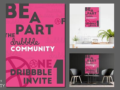 COMMUNITY post join part new instagram behance color latest dribbble invite invites invite poster art