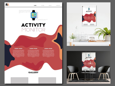 ACTIVITY game fitness experience interface user experience website ui web design website ux ui abstract poster art