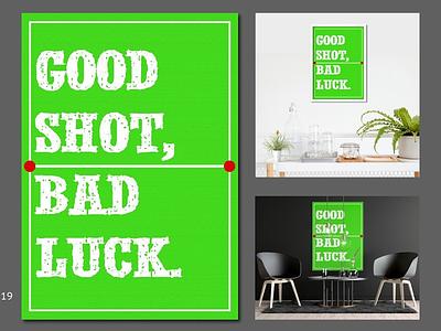 TENNIS good latest shot good shot bad luck good luck like sport green game poster art