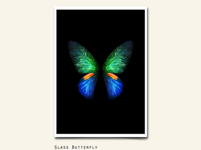 111/365 GLASS BUTTERFLIES shade glass poly low wallpaper character animal fold galaxy samsung poster abstract art