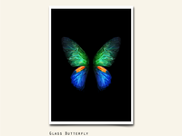 111/365 GLASS BUTTERFLIES