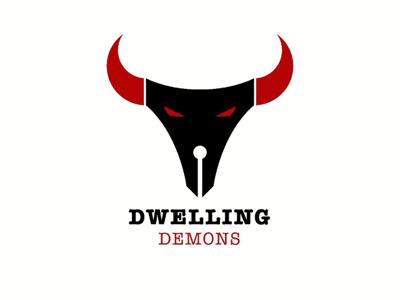117/365 DWELLING DEMONS poem wrote pen demon devil demkn strawgy brand identity logo abstract poster art