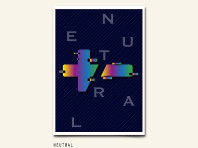 NEUTRAL start post game minus plus sign gradient abstract poster art