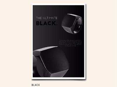 122/365 ULTIMATE BLACK shine shade rich black gradient true black dark ring hand shoot product abstract poster art