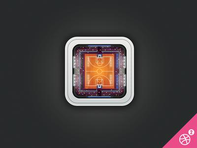 Basket stadium icon