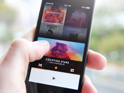 Cassette albums music player ios ui ux albums interaction app cassette