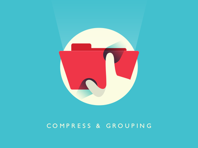 Pinch to compress or grouping on MacOS