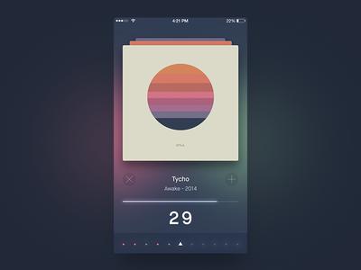 Like - Dislike App ios app like dislike cards perspective pile time timer