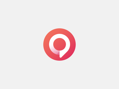 Opineys final icon long shadow speach gradient circular icon opineys