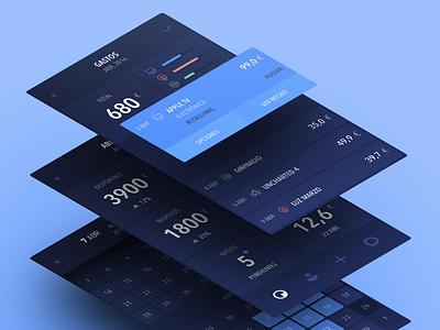 Finances App cal dashboard financial categories timeline ios app wallet