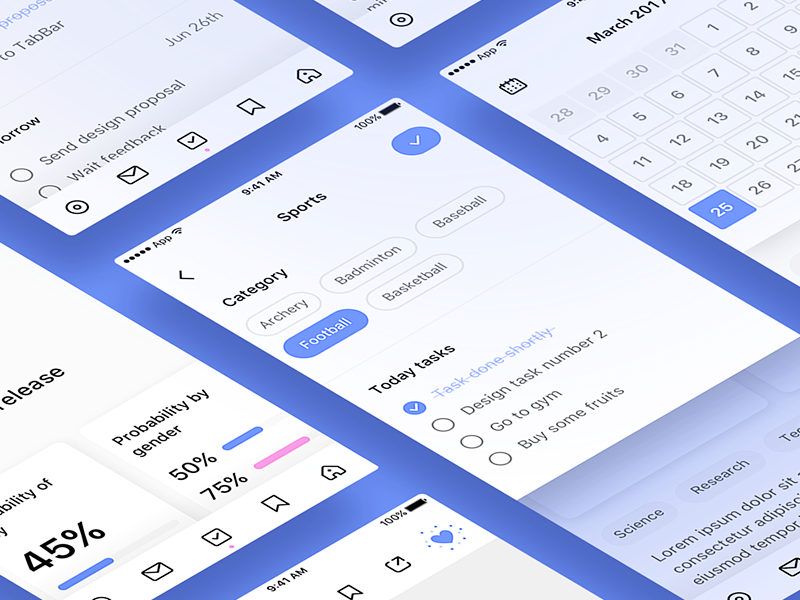 Manager App card tasks modal calendar app manager
