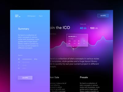 Landing ICO web landing cryptocurrency bitcoin ico blockchain