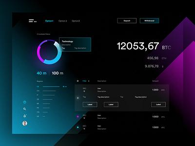 Dashboard ICO web landing cryptocurrency bitcoin ico blockchain