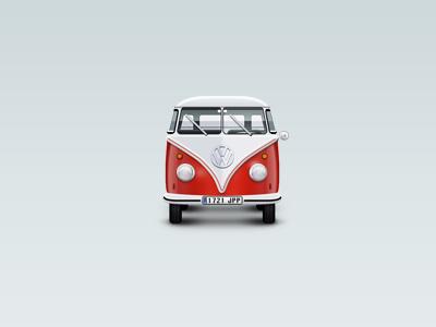 The Van icon car illustration volkswagen van vw