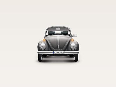 Beetle car illustration vw beetle icon volkswagen