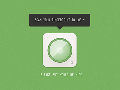 Login Concept (live) login fingerprint concept live