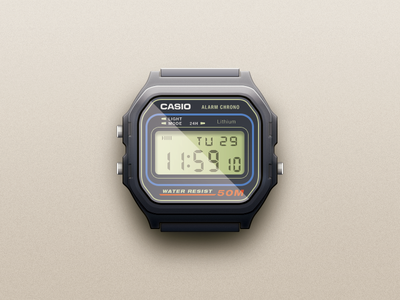 Casio Watch casio watch illustration icon